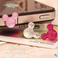 Wholesale Plug Retail - Free shipping diamond Anti Dust 3.5mm Earphone dust Plug for iPhone With Retail Package 10pcs lot