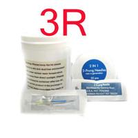 Wholesale Sterilized Needles 3r - New50x 3R Permanent Makeup Eyebrow Needles Prong Needle Sterilized For Pen Machine