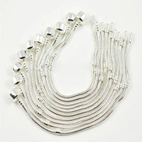 Wholesale Mix Size Snake Bracelets - 10pcs Mixed Size 925 Silver Bracelet European Style Bead Fit 3mm Snake Chains Bracelet 7.0-8.5inch