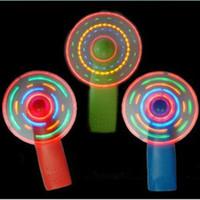 asas claras venda por atacado-Verão levou mini ventilador colorido pequeno flash de brinquedo LED Rave LED Brinquedos Iluminados