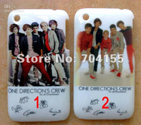 Wholesale Back Cover 3gs Iphone - 10pcs New One Direction 1D hard back case cover for iphone 3 3G 3GS free shipping