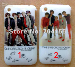 Wholesale Hard Case Iphone One Direction - 10pcs New One Direction 1D hard back case cover for iphone 3 3G 3GS free shipping