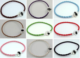 Wholesale Special Order Bracelets - special order of 100pcs snake chain silver bracelet and 100pcs leather bracelet, 100pcs leather neckace