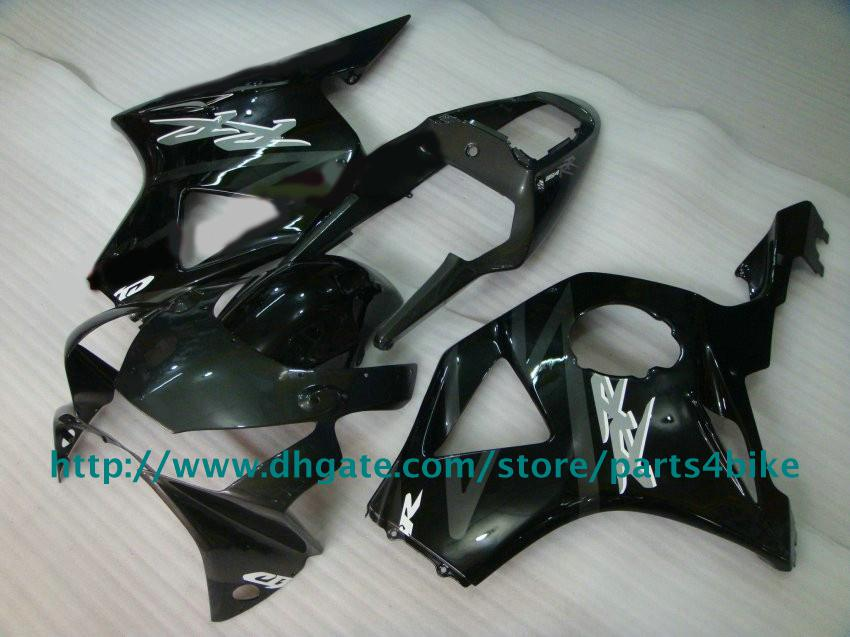Motocycle para Honda CBR900RR 954 2003 CBR954RR 03 kit de carenado + vientos NO.46 todo negro carrocería RX3b