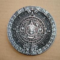 Wholesale Aztec Red - New Buckle SW-384 AZTEC CALENDAR BELT BUCKLE