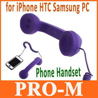 pc phone handset al por mayor-Teléfono retro del POP para el envío púrpura del color de la PC del iPhone HTC Samsung de la PC envío libre + Drop