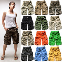 Wholesale Mens Casual Military - Men Casual Loose Camouflage Vintage mens Military cargo Army shorts With Belt