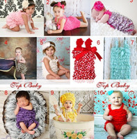 Wholesale Dress Lace Rompers Baby Girl - New! 60pce Toddler Baby Girl Lace Posh Pettiskirt Ruffle Rompers Dress Children Tutu Lace Clothes