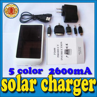 Wholesale Digital Portable Charger - Solar Charger for mobile Phone digital camera IPAQ mp3 mp4 full 2600 mah universal portable solar