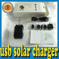 Wholesale Mini Solar Mobile Phone Charger - Mini Solar Battery 1200mAh Solar Chargers Panel USB Charger, Mobile Phone Charger, led flashlight