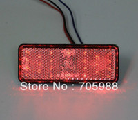 2 * Red Rectangle LED Reflektoren Bremslicht Universal Motorrad
