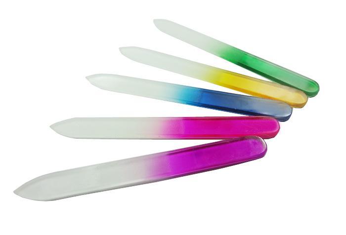 Clavo del multicolor de vidrio cristalino de archivos 12 cm / 4,8