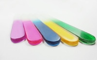 "Wholesale Manicure Multi Tool - Multi color Crystal Glass Nail Files 12CM 4.8"" For Manicure UV Polish Tool 100PCS LOT#NF012"