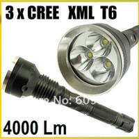 Wholesale Trustfire 3x Dive - SKY-RAY 3T6 818 Flashlight 5 Mode 4000 Lumens 3X CREE XM-L T6 LED Flashlight 18650 Battery High Powe