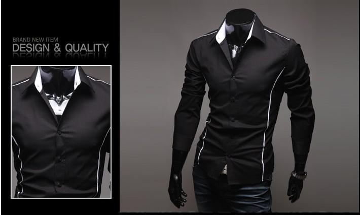 2017 2013men'S Long Sleeve Shirts Men Black Shirt Men Stylish ...