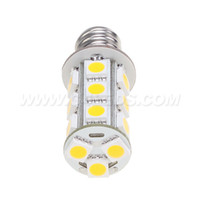 Wholesale E12 Bulb 12v - Free Shipment!! 18led Of 5050SMD E12 LED Auto Bulb 12V 24V 360LM White Color 3W Corn Bulb Indoor 10pcs lot