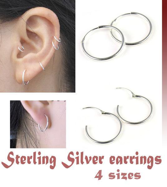 2017 Sterling Silver 9 16 5 16 3 8 1 2 Endless Hoop