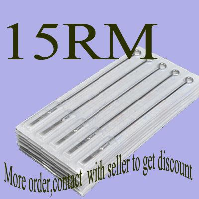 50x15RM Tattoo Sterilized Needles Round Magnum Size Tattoo Kits Suppy Top Quality