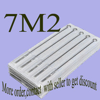Wholesale Disposable Magnum - Hot!50x7M2 Professional Disposable Tattoo Needles Double Stack Magnum Size Needle Kits Supply