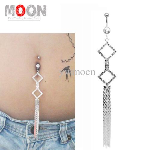 2018 new arrival so shine long dangle navel belly button for Belly button jewelry store