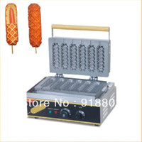 6pcs Commercial Use Non Stick 110v 220v Electric Lolly Waffl...