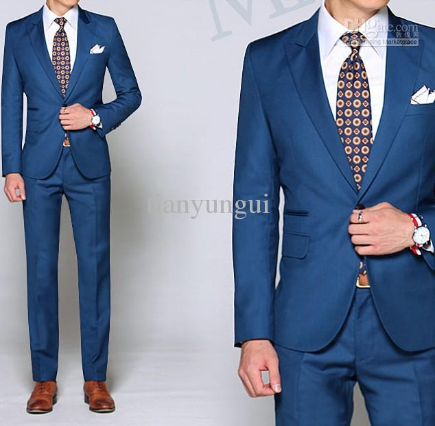 2017 Custom Made Fashion Suit Pant Men's Suits Wedding Bridegroom ...