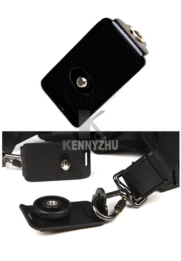 New Camera Quick Release Double Shoulder Strap DSLR Adjustable Belt Plate For Two Cameras Conan Nikon Sony