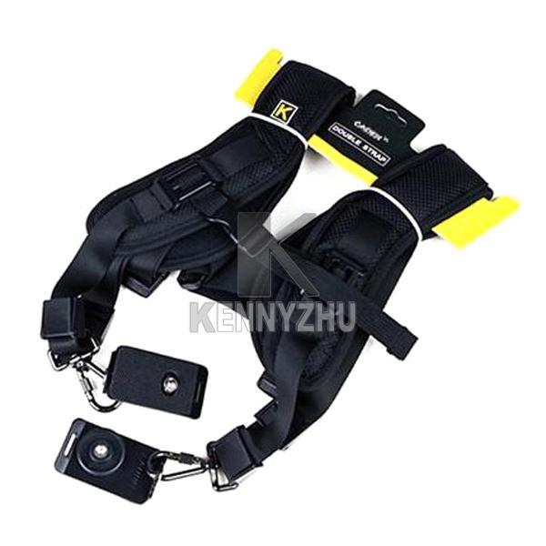New Camera Quick Release Double Shoulder Strap DSLR Adjustable Belt Plate For Two Cameras Conan Nikon Sony
