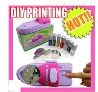 Wholesale Nail Printer Stamper - DIY Nail Art Colors DIY Printing Printer Stamper Pattern Manicure Machine Stamp Kit