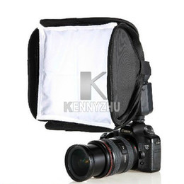 Wholesale Soft Box For Flash - New Portable 23x23cm Speedlite Flash Light Soft Box Diffuser For Canon Nikon Sony