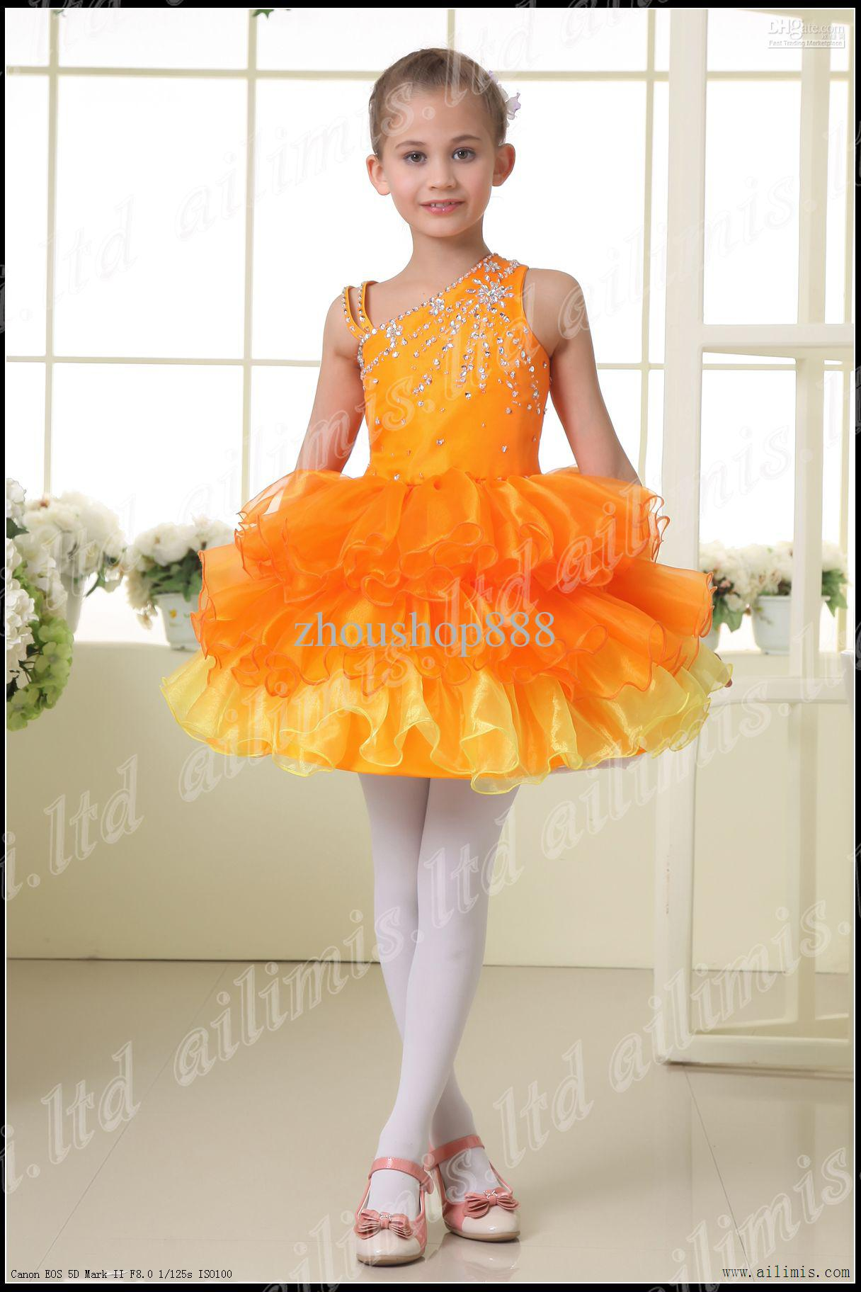 Beautiful Cute Girl Kids Pageant Dress Bridesmaid Party Princess ...