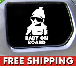 Wholesale Car Decals Baby Board - 100 pieces   lot 2013 NEW Baby on Board Carlos Hangover funny car vinyl sticker decal