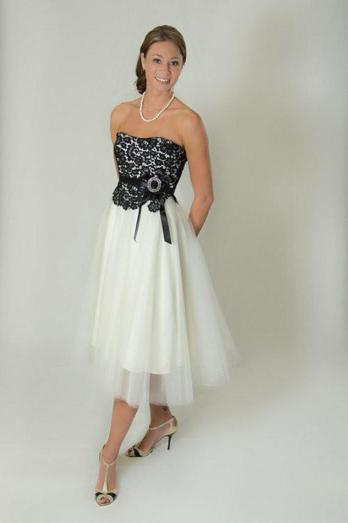 Discount custom black and white lace wedding dress 2013 for White wedding dress black lace