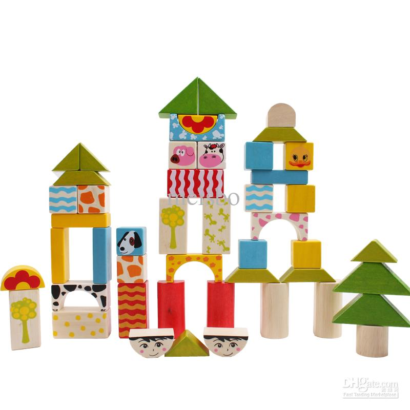Toy Large Wooden Blocks 45