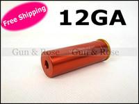 Wholesale Bore Laser 12 - Free shipping 12 Gauge 12GA Laser Cartridge Bore Sighter 12 GA Boresighter laser bore sight