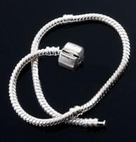 Wholesale Tibet Silver Bracelet Wholesale - Hot ! 10 Pcs Tibet silver Snake Chain Bracelets Fit European Bead 17cm   18cm   19cm Etc.