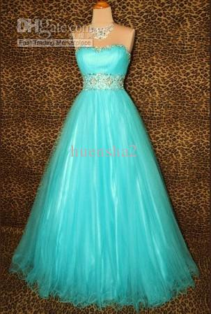 Discount wholesale 2013nwt turquoise prom formal evening pageant custom made sexy bridal dress wedding dresses formal gown evening dress prom dress it makes you become a charming bride 100 brand new with beautiful junglespirit Gallery