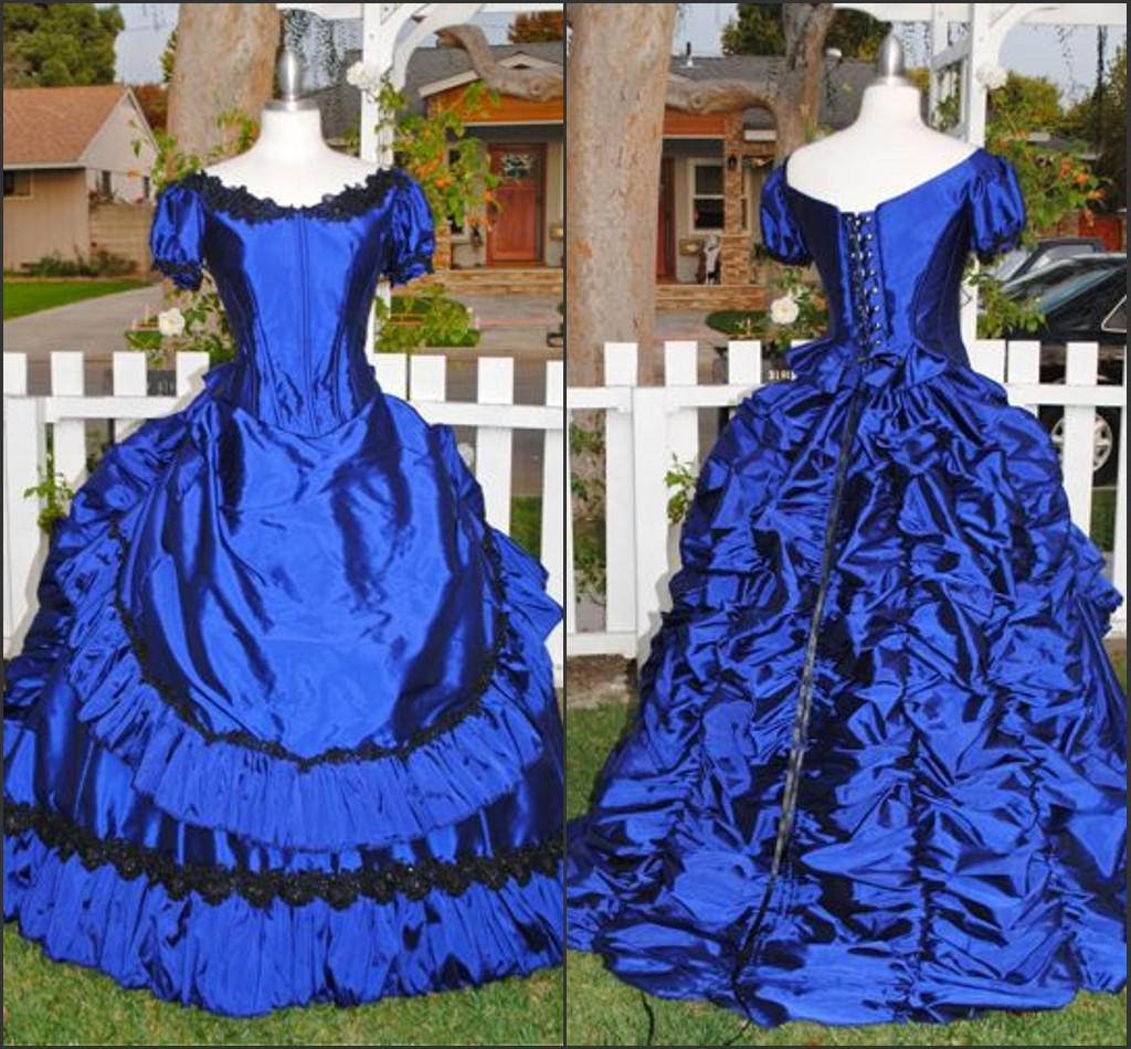 Real Sample Civil War Southern Belle Gothic Victorian Lace Taffeta ...