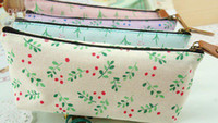 Wholesale Life Style Pencil Case - Freeshipping! NEW life style flowers ver 3 Pencil bag  Cosmetic Storage case Pen holder pouch Functi