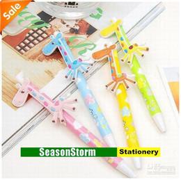 Wholesale Giraffe Pens - Min Order $20 (mixed order) Retail Lovely Giraffe Animal Ball Pen Stationery (ZM-8071)