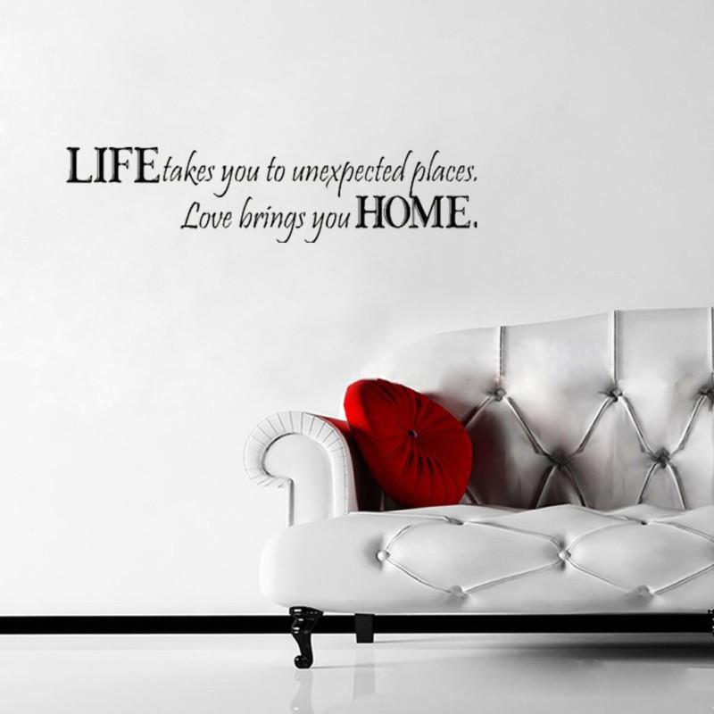 Vinyl Wall Quote Life Takes You To Unexpected Places Diy Wall Art Decal  Stickers Nursery Bedroom Kid Train Wall Decals Train Wall Stickers From  Ezbuygadgets ...