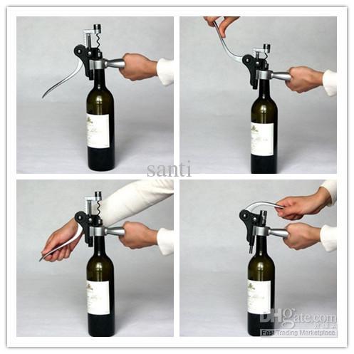 Rabbit Deluxe Tire Corkdrew Collar Pourer Set, bottiglia di vino rosso Opener