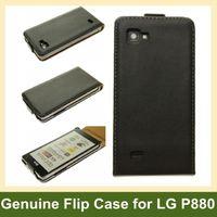 Wholesale Lg 4x Hd Flip Case - Wholesale 1pcs Genuine Leather Flip Case for LG P880(Optimus 4X HD) With Magnetic Closure Free Ship
