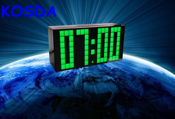 Горячая новый большой большой цифровой Джамбо многофункциональный специальный светодиодный будильник настенный дисплей настенный таймер погода календарь мировые светодиодные часы