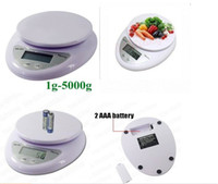 Wholesale Postal Scale Digital Shipping - New 5kg 5000g 1g Digital Kitchen Food Diet Postal Scale Household Scales #8100 1pcs Free Shipping