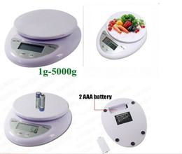 Wholesale Household Kitchen Scale - New 5kg 5000g 1g Digital Kitchen Food Diet Postal Scale Household Scales #8100 1pcs Free Shipping
