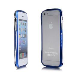 Wholesale Bumper 5g - CLEAVE Metal Bumper Case for iPhone 5 5G N Screws Dual color Aluminum Frame Protector DHL 30PCS