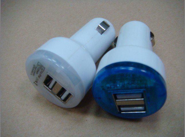 유니버설 듀얼 USB 2 포트 미니 자동차 충전기 전원 어댑터 아이폰 5 4 4S IPad 삼성 갤럭시 S4 S3