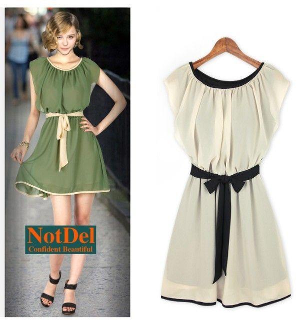 Womens Dresses Ladies Ruffles Green Chiffon Mini Dress Evening ...