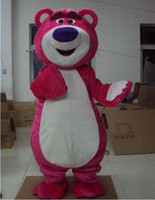 Wholesale Red Bear Mascot Costume - Pink Bear Lotso Toy Story Mascot Costume Fancy Dress Free Shipping